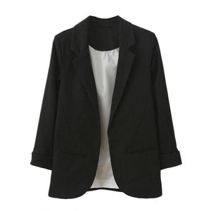 Female Jacket Suit Spring Autumn Women Fashion OL Style Nine Quarter Cuffed Sleeve Blazer Elegant Slim Suit Coat Basic Jacket-Women Jacket-Come4Buy eShop