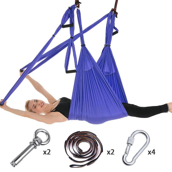 Full Set 6 Handles Anti-gravity Aerial Yoga Hammock
