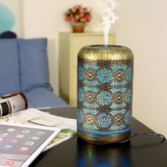 Metal Aromatherapy Machines 260ml Essential Oils Diffuser Air Humidifier