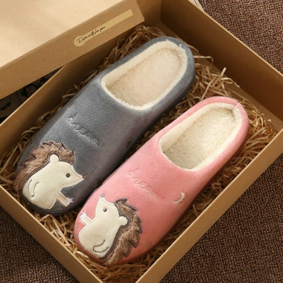 Women Winter House Slippers New Non-slip Soft Fur Warm Indoor Bedroom Lovers Couples Floor Home Shoes ladies furry slides