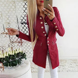 Womens Jackets And Coats 2019 Fashion Simple Office Lady Lapel Suit Coat Long-Sleeve Jacket Button Coat Trench Coat Female-Women Jacket-Come4Buy eShop