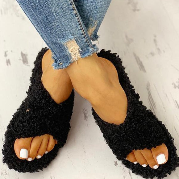 Women Home Slippers Woman Warm Flat Indoor Women's House Winter Casual Soft Bottom Ladies Comfort Female Fashion Shoes