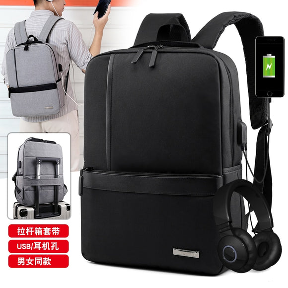 Litthing Slim Laptop Backpack Men Office Work Men Backpack Business Bag Unisex Black Ultralight Backpack Thin Back Packbag