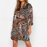 Leopard Dress Women