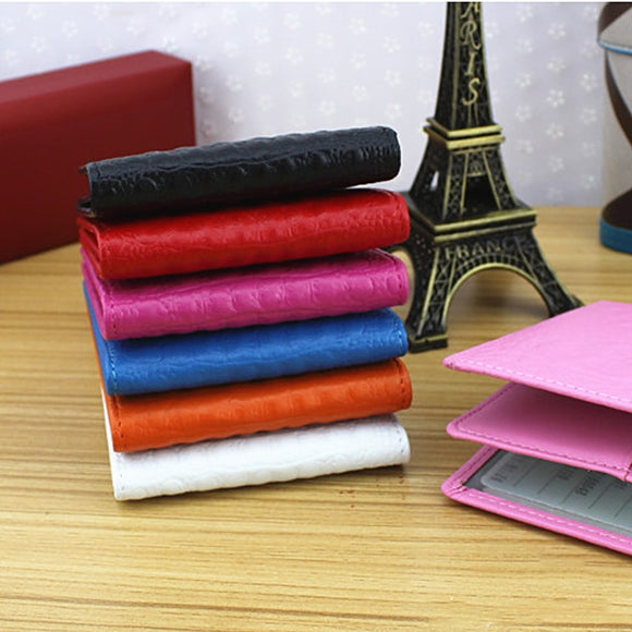 Color Croco Patten wallets