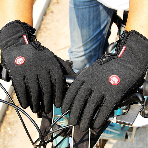 Winter Mens Women Cycling Gloves Anti-slip Motorcycle Windproof Bike Gloves Anti-shock Full Finger Mountain Bicycle Gloves-[product_type]-Come4Buy eShop