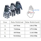 Qepae Reflective Cycling Gloves Full Finger Gloves Men Shockproof Outdoor Sports Gloves Black Anti Slip Adjustable Breathable-Glove-Come4Buy eShop