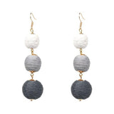 New tassel earrings fashion women statement pom pom Earrings for women hoop earrings-EARRINGS-Come4Buy eShop