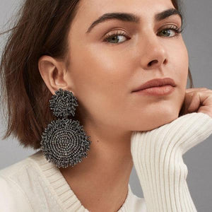 Bohemian Fashion Beads Handmade Drop Earrings For Women Vintage ZA Dangle Earrings Round Jewelry Wedding Party Girl Gifts-EARRINGS-Come4Buy eShop