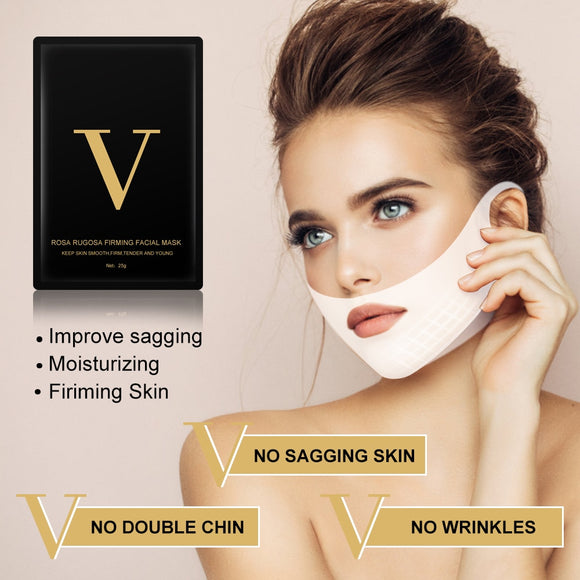 V Shape Face Firming Tool Slimming Mask Double Chin Reducer Lift Patch Lifting V Line Mask 4d Face Mask Miracle V-shaped