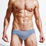 Sexy Man Stripe Swimming Trunks Men's Swimming Briefs Swimming Suit-Men Clothing-Come4Buy eShop