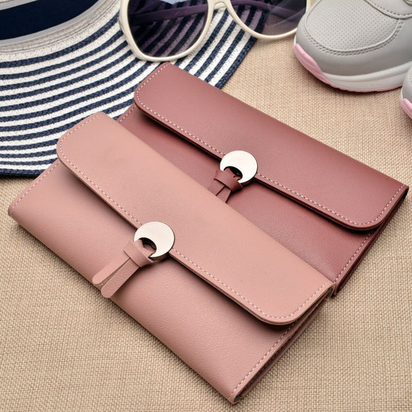 Women Hasp Long Coin Purses Leather Phone Wallets Female Money Bags Credit Card Holder Zipper Pocket-Bag-Come4Buy eShop