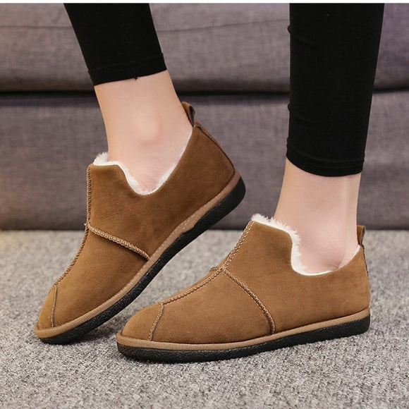 Loafers Winter Warm Flat Shoes