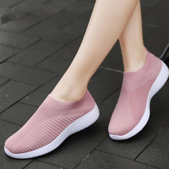 Women Sock Sneakers Flat Loafers Platform Wedges Breathable Driving Vulcanized Casual Outside Ladies Shoe Zapato De Mujer