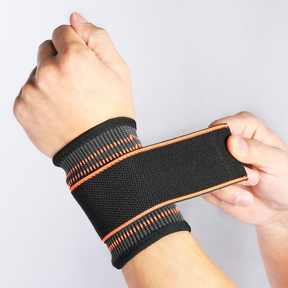 Wristband Men Women Breathable Adjustable Wrist Support Running Wrestle Weight Lifting Sports Wrist Protector Bandage Band (Black)-[product_type]-Come4Buy eShop