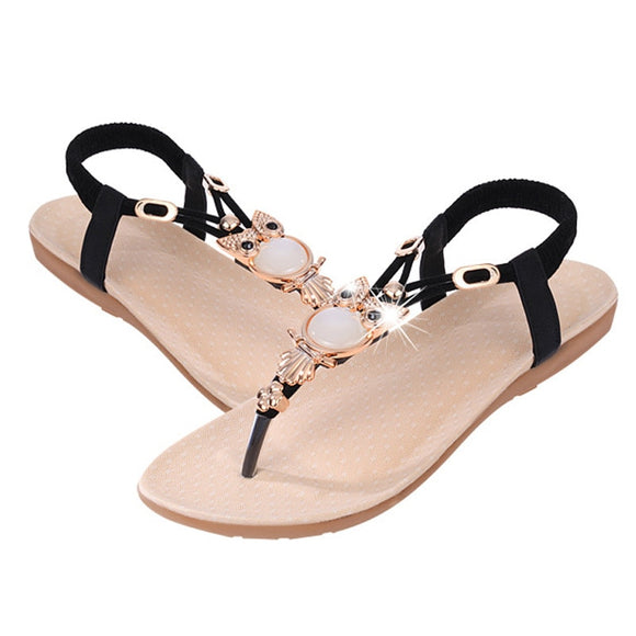 Fashion Sandals for Women Flat Summer Shoes Cartoon Owl Shoes Women's Sandals Summer Footwear-Women Flats Shoes-Come4Buy eShop