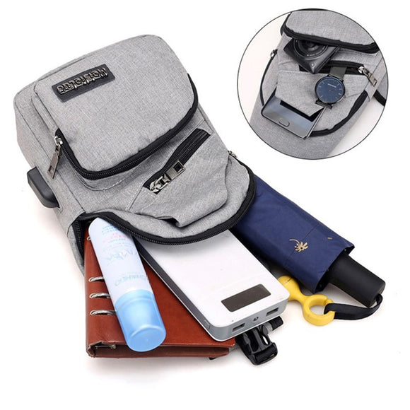 USB Charging Large Single Shoulder Bags