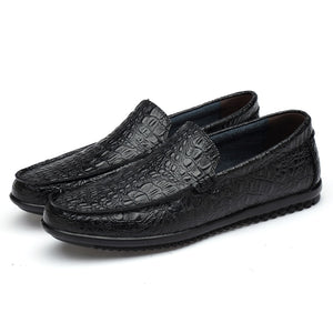 Small Size 36-46 Hollow Summer Men Leather Loafers Casual Flats Crocodile Pattern Mocasines-Men Shoes-Come4Buy eShop
