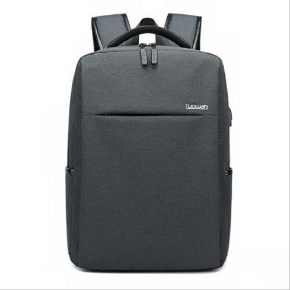Men's waterproof notebook backpack business college wind USB interface large capacity travel shoulder bag