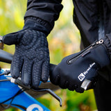 Cycling Gloves Fietshandschoenen Shock-absorption Bike Bicycle Gloves Sport Waterproof Touch Screen Luvas bisiklet Black-Glove-Come4Buy eShop