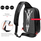 Men's chest bag multi-function shoulder Messenger bag large capacity chest bag waterproof travel Messenger bag male