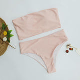 High Leg Bandeau bikini set Swimwear female swimsuit High Waist Bikini Women Bathing Suit biquini-[product_type]-Come4Buy eShop