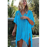 Sexy Beach Cover up Crochet White Swimwear Dress Ladies Bathing Suit Cover ups Beach Tunic Saida de Praia-Women Clothing-Come4Buy eShop