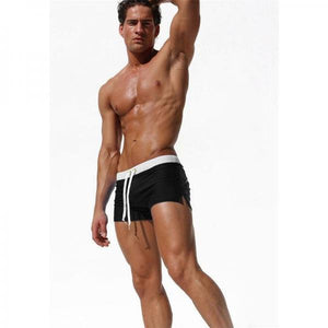 Newest Men's Swimming Trunks Pocket Swimwear Men Sexy Men's Swimsuit Quick Dry Swimming Shorts Mens Swim Briefs Zwembroek Heren-[product_type]-Come4Buy eShop