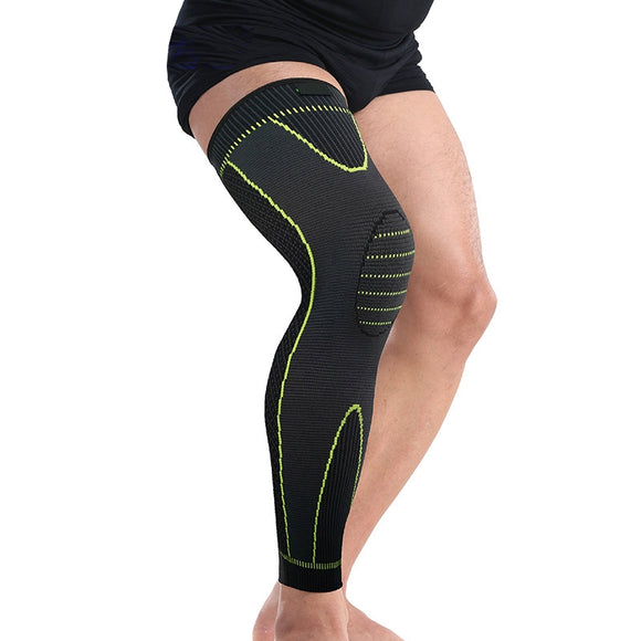 Elastic Sports Basketball Sleeve Leg Long Calf Knee Brace Support Protector polainas senderismo Men's Cycling perneras ciclismo (Black)-[product_type]-Come4Buy eShop