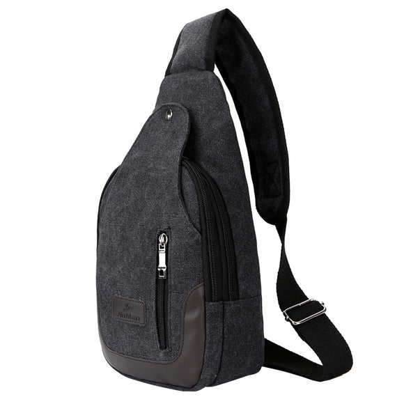 Multifunction Patchwork Men's Chest Bag
