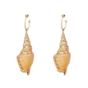 Gold Shell Drop Earrings For Women 2019 Bohemian Wedding Gift Statement stone Dangle Earring Jewelry-EARRINGS-Come4Buy eShop