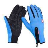 Adjustable Touch Screen Outdoor Sports Windstopper Ski Gloves Blue Riding Gloves Motorcycle Glove Mtb Cycling Glove Mens Women-[product_type]-Come4Buy eShop