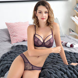 Hot Women lingerie set ultra thin bra set Sexy Lace Underwear victoria Transparent Bralette set Women Bra Panties Set-[product_type]-Come4Buy eShop