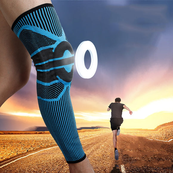 Long Basketball Knee Pads Running Leg Sleeve Calf Knee Brace Support Protector Spring Support Sport Kneepad Football Shin Guard-[product_type]-Come4Buy eShop