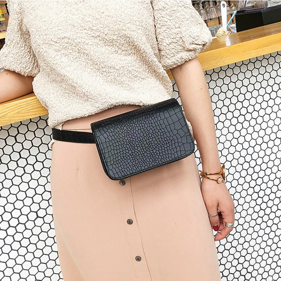 Alligator Pattern Casual Waist Work Bag