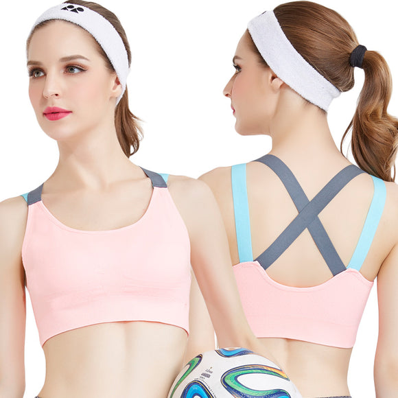 Cross Strap Back Women Sports Bra Quick Dry Padded Shockproof Fitness Running Yoga-Sports Bra-Come4Buy eShop