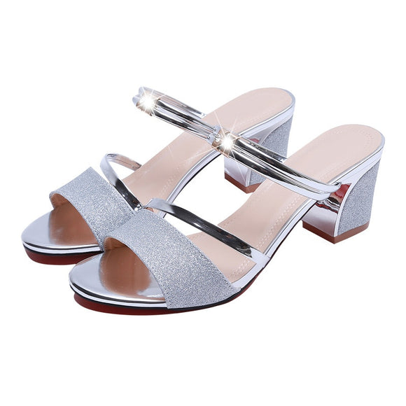 Heel Height 6cm Sandals Women Shoes Peep toe Square Heels Ladies Sandals Summer Shoes Woman Fashion-[product_type]-Come4Buy eShop