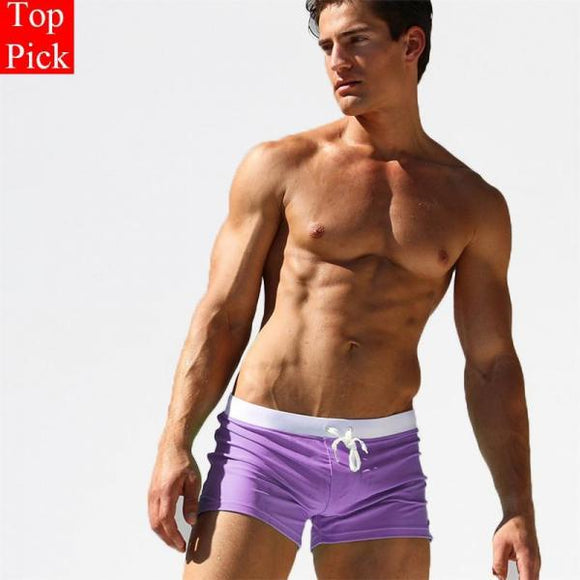 Newest Men's Swimming Trunks Pocket Swimwear Men Sexy Men's Swimsuit Sports Swimming Shorts Mens Swim Briefs Zwembroek Heren Gay-[product_type]-Come4Buy eShop