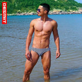 Blcak White Stripes  Swimwear Men New Men's Surf Swim Boxer Swimming Trunks For Bathing Top Sell  Men Board Shorts-[product_type]-Come4Buy eShop