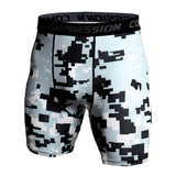 Compression Shorts Men 3D Print Camouflage Bodybuilding Tights Short Men Gyms Shorts Male Muscle Alive Elastic Running Shorts