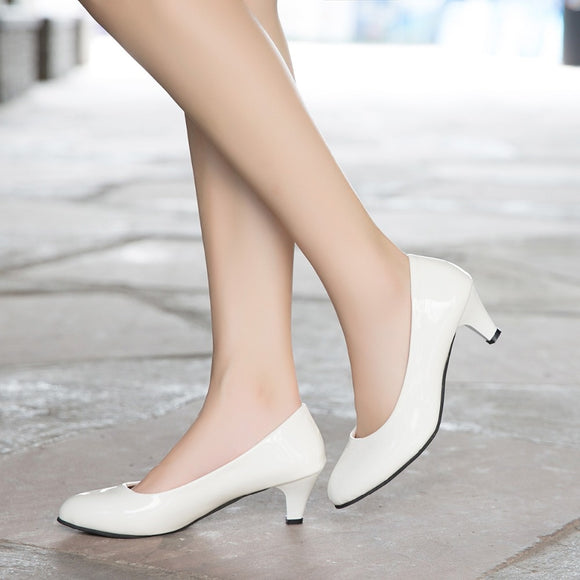 Nude Hollow Mouth Sexy Fashion Wedding Pumps Office High Heels Casual Shoes For Elegant Ladies Female-Women Heel Shoes-Come4Buy eShop