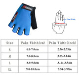 Qepae Lycra Soft Breathable Half Finger Bicycle Gloves Women Men Cycling Glove GEL Bike Mittens Red Blue Black Outdoor Anti Slip-Glove-Come4Buy eShop