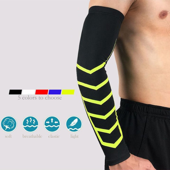 Cycling Arm Sleeves mangas ciclismo Elastic Compression Sunscreen Breathable Arm Cover Arm Sleeves Basketball For Men Women-[product_type]-Come4Buy eShop