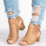 Woman Peep Toe Sandals High Heel Shoes Female Wedges Pumps Gladiator Ladies Solid Plus Size