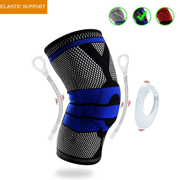 Gym Volleyball basketbol dizlik Elastic Support Knie Brace Silicone Pads Relieve Arthritis Running Knee Protectors Guard Kneepad-[product_type]-Come4Buy eShop