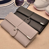 Clutch Bags Red Wallets Women Leather Phone Wallets Solid Hasp Long Purse Girls Money Credit Card Holders-BAG-Come4Buy eShop