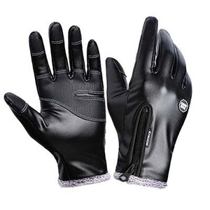Kyncilor Cycling Gloves Winter Leather Bycicle Gloves Velvet Mittens Luva guantes Cycling Gloves For Hiking Cycling Drving-[product_type]-Come4Buy eShop