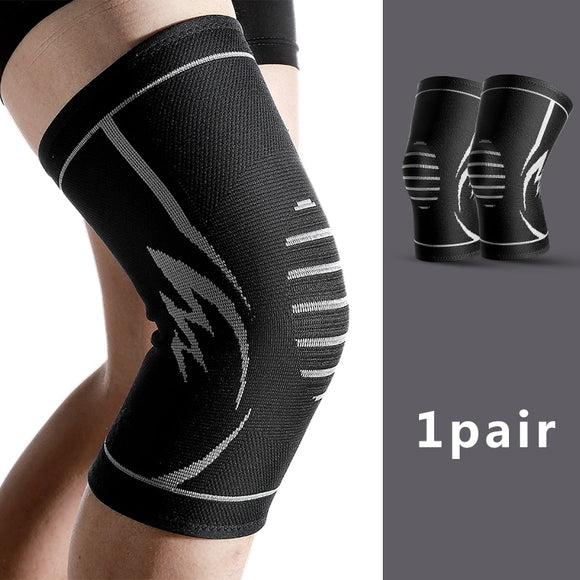1Pair Fitness Running Cycling Knee Support Braces Elastic Nylon Sport Compression Knee Pad Sleeve for Basketball Volleyball-[product_type]-Come4Buy eShop