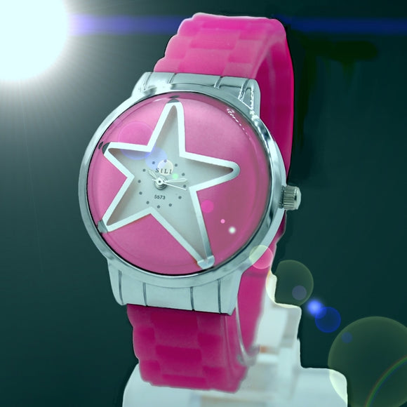 Star Glass Pink Ladies Watches FW817LE