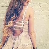 Sexy Women's Padded Bra Cotton Backless Hollow Out Crop Tops Cut Out Bralette-Bras & Briefs-Come4Buy eShop